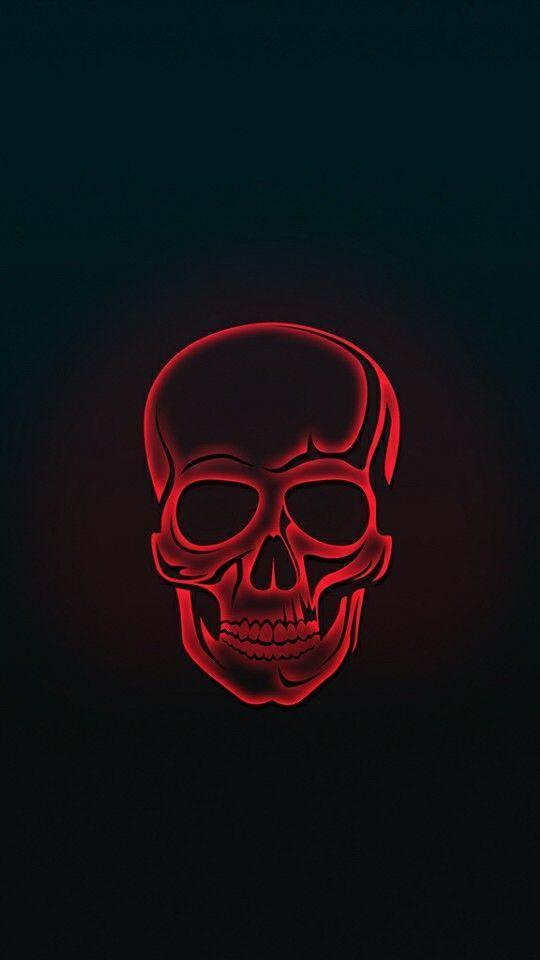 Red Skull Amoled Iphone Wallpaper Neon Wallpaper Skull Wallpaper Iphone Skull Wallpaper