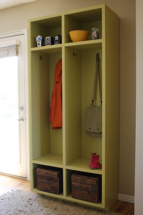Entryway Storage Lockers Woodworking Plans Woodworking