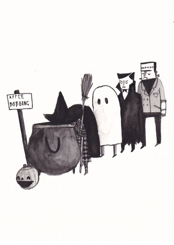 Halloween, Dick Vincent Illustration
