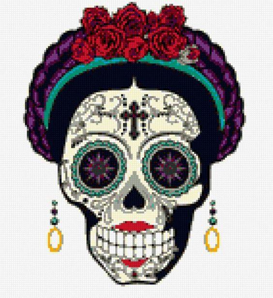 Dia de los muertos - Схемы вышивки - packoon - Авторы - Портал «Вышивка крестом»: