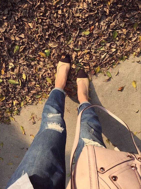 Kaitlyn Pan zwei Ton Block Heel Slingback Lammfell weiche Sandale