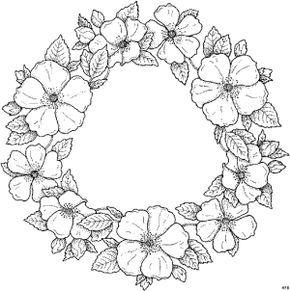 Blumenkranz Blumen Mehr Blumen Ausmalbilder Malvorlagen Blumen Bandstickerei