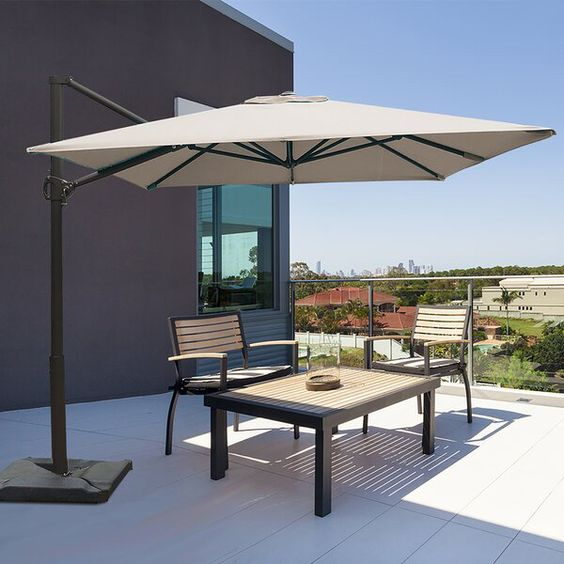 Fordwich 8 X 10 Rectangular Cantilever Umbrella In 2020 Rectangular Patio Umbrella Cantilever Patio Umbrella Patio
