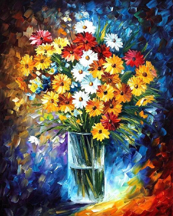 #afremov #art #paintings #leonidafremov #gifts #stilllife #homedecor #impressionict #artist #flowers: