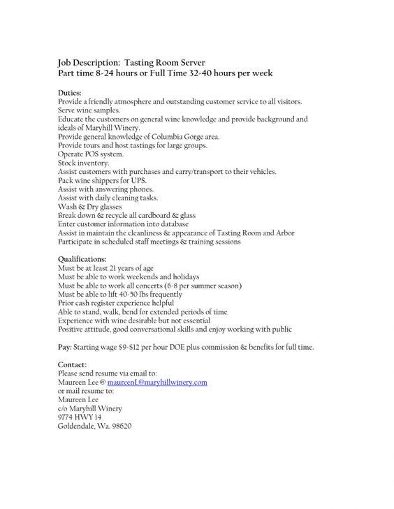 job descriptiondining server description dining room attendant - server job description
