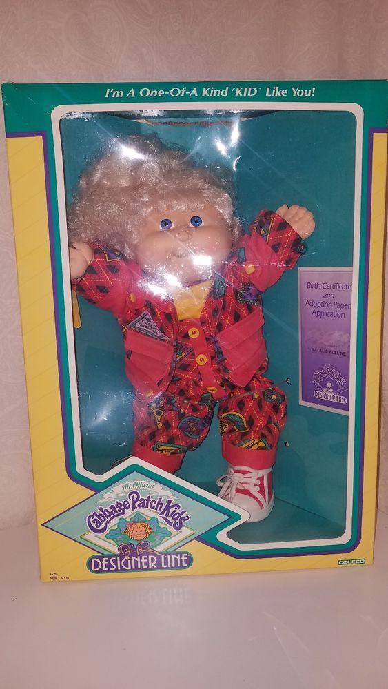 Vintage 1988 Cabbage Patch Kids Designer Line Blonde Girl Jumpsuit Outfit Ja Ebay Cabbage Patch Kids Dolls Cabbage Patch Kids Vintage Cabbage Patch Dolls