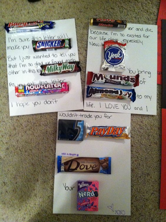 A candy letter. I made this for a care package for my boyfriend who is in the Navy. It was super easy and so much fun. I was seriously laughing the whole time while I was making it.