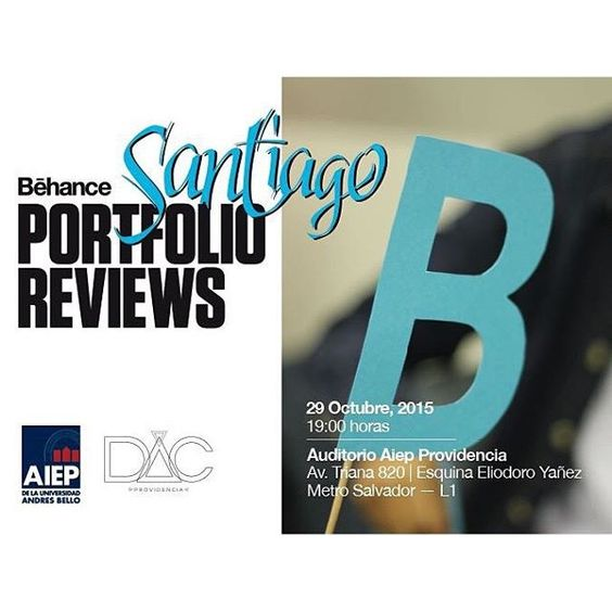 #BehanceReviews happening in Santiago on Oct. 29th!