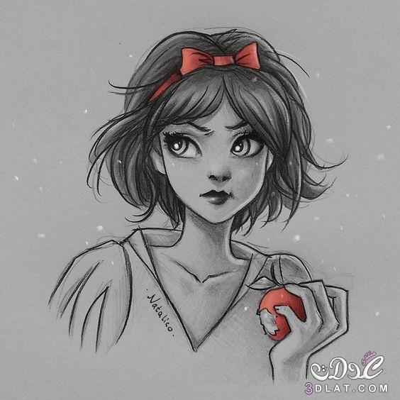 بنات مرسومة بالقلم الرصاص روعه رسومات بالرصاص 3dlat Net 26 17 20c3 Disney Princess Drawings Disney Princess Art Disney Art