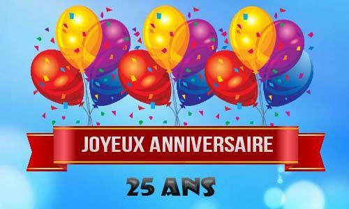 Carte D Anniversaire Pour Homme De 25 Ans Elegant Carte Anniversaire Homme 25 Ans Ballons Ciel
