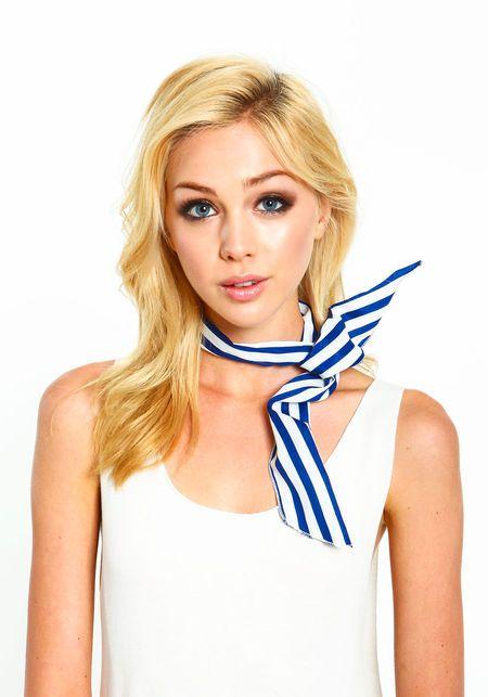 Stripe Headband, WHITE/NAVY, large