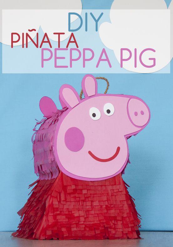 Tutorial DIY: PIñata Peppa Pig // DIY Tutorial Peppa Pig Pinata http://www.azucarillosdecolores.com/2014/09/tutorial-diy-como-hacer-una-pinata.html