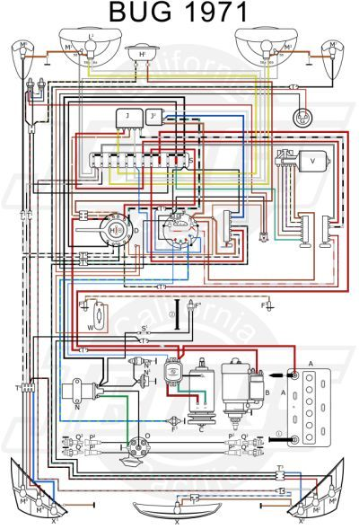 Vw Tech Article 1971 Wiring Diagram Vw Beetles Diagram Electrical Wiring Diagram