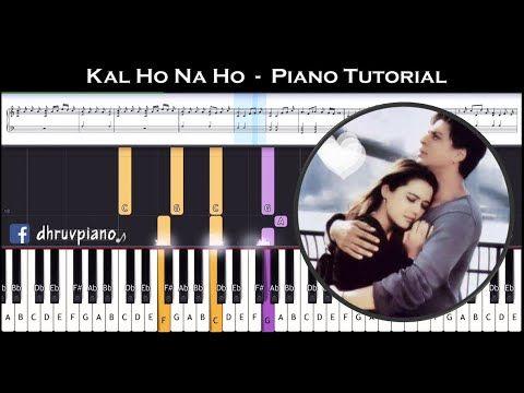 Kal Ho Na Ho Heartbeat Piano Tutorial Sheet Music With English Notes Midi Youtube Piano Tutorial Kal Ho Na Ho Sheet Music