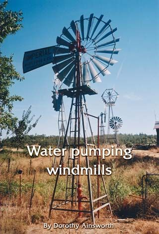 Water pumping windmills and how they work, including schematics