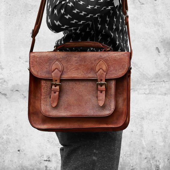 13''Macbook Bag Leather Satchel Leather Briefcase Traveler Wallet Laptop Case Backpack