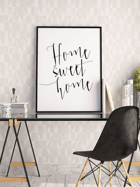 HOME SWEET HOMEPrintable ArtHome DecorHome Wall by TypoHouse
