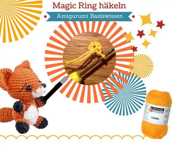 Tutorial: Magic ring, magischen Ring für Fadenring häkeln. Mit dieser Anleitung gelingt auch absoluten Anfänger der perfekte Anfang für Amigurumi, Beanies und anderen Häkelarbeiten, die in Runden gehäkelt werden.