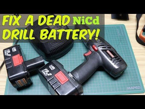 How To Revive A Nicd Drill Battery That Won T Charge Youtube Battery Drill Battery Hacks Battery Repair