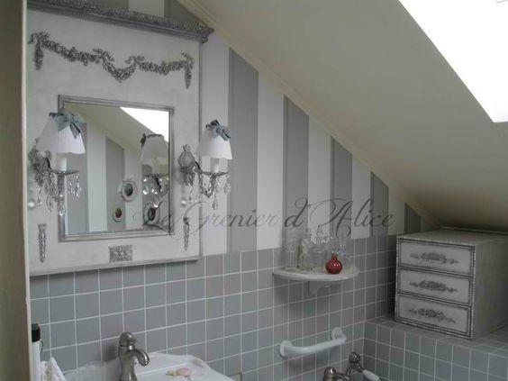 jolie d coration salle de bain shabby chic d corations. Black Bedroom Furniture Sets. Home Design Ideas