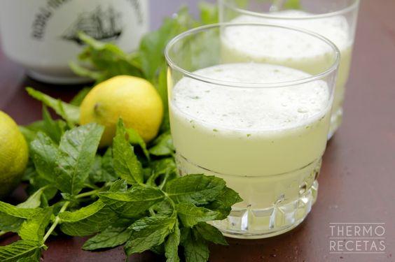 Limonada de hierbabuena - http://www.thermorecetas.com/limonada-de-hierbabuena/