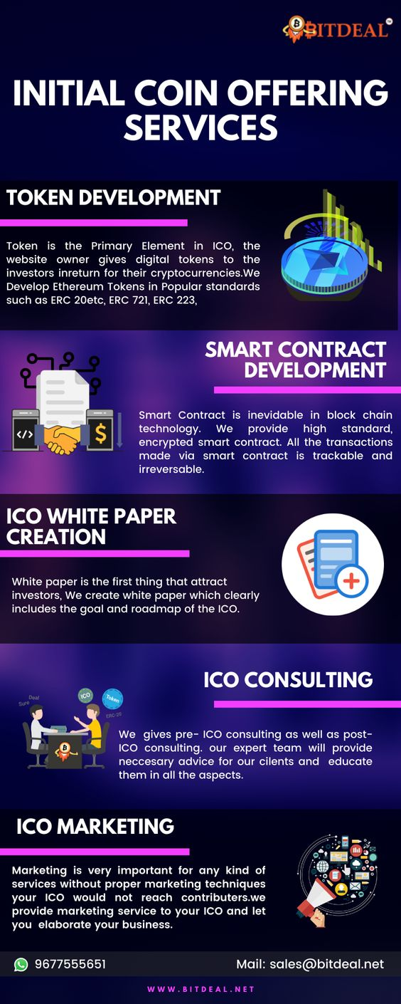 Bitdeal Initial Coin Offering Services