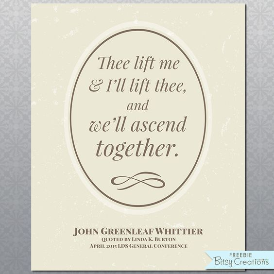 Burton Proverb quoting John Greenleaf Whittier Free Printable from BitsyCreations April 2015 LDS General Conference Quote #ldsconf