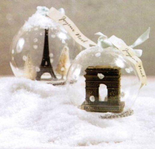 ♥ Eiffel and Arc Ball Ornaments.