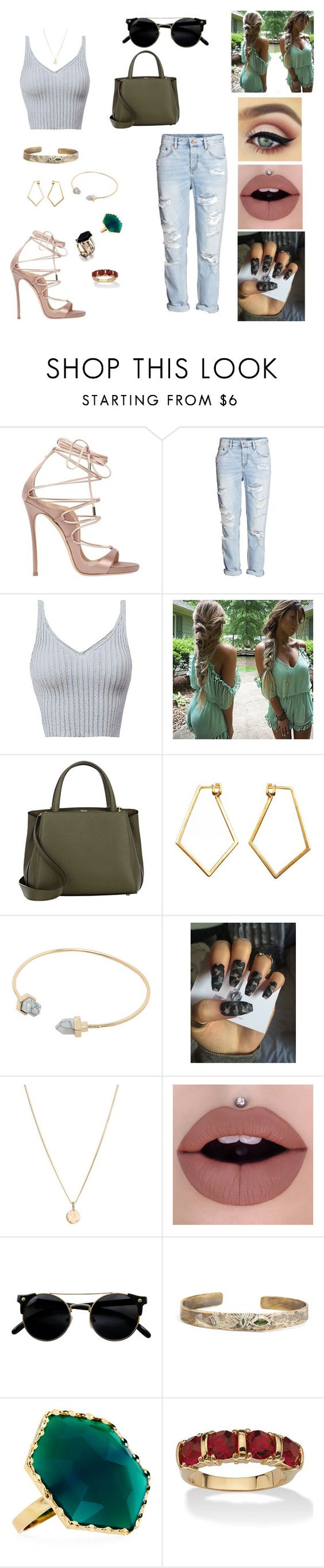"""""""&"""" by raquelitaa-torres ❤ liked on Polyvore featuring Dsquared2, Valextra, Dutch Basics, Laura Lee, Lana and Palm Beach Jewelry"""