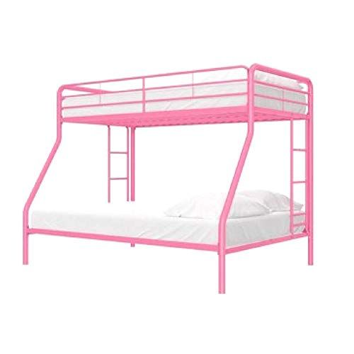 Girls Bunk Bed Metal Frame Twin Over Full With Ladders And Safety