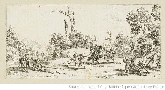 [Les petites misères de la guerre]. 2, [L'attaque sur la route] : [estampe] / [Jacques Callot] - 1