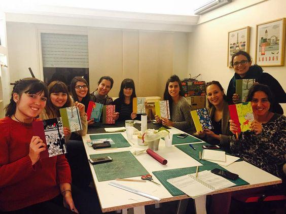 Así terminamos el día. Bienvenidas al #ClubDeEncuadernadores! #FlorenceLivres #encuadernacion