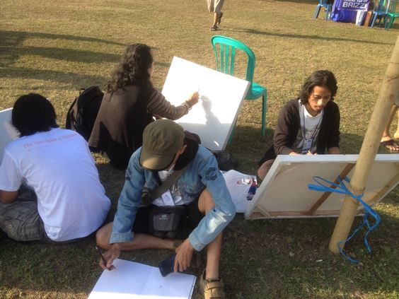 day 3rd #Sanfest2015 #SanurVillageFestival2015 painting activities at main area