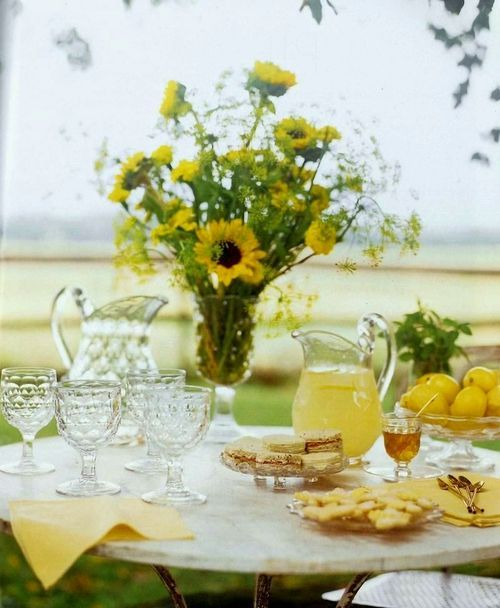 sunny yellow tea party