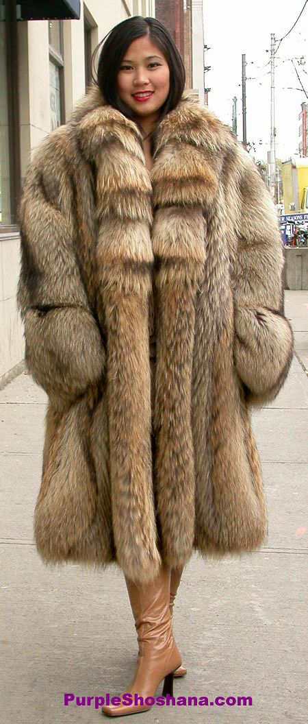 Oversize finnish raccoon fur coat | so beautiful! | Pinterest