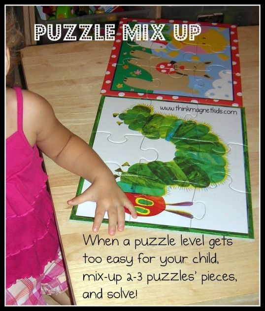 Bringing new life to puzzles that have become easy for your young children...: Kids Stuff, Kid Crafts Activities, Kid Fun, Kid Ideas, Kids Activities, Puzzles Playroom, Ece Puzzles, Local Toy, Kid Stuff