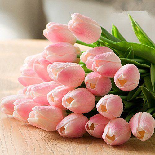 10pcs Premium Artificial Tulip Flowers Faux Tulip Flower Tulipanes