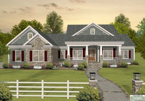 The Long Meadow House Plan - 1169  Great basement configuration for our basement!