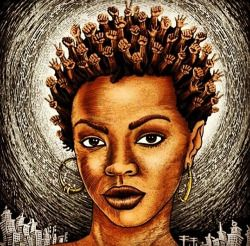 love art painting Cuddling Cuddle King Queen afrocentric black ...