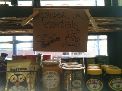 "Proper British Essentials, on sale in New York's ""foodiest borough""."