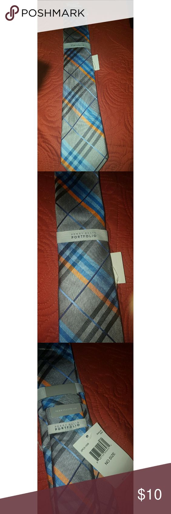 Mens  perry ellis portfolio dress tie Beautiful Perry ellis tie brand new Perry Ellis Accessories Ties