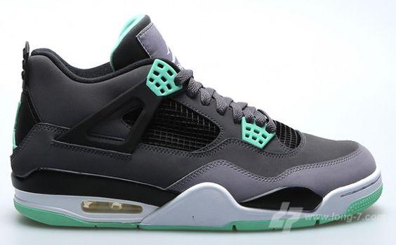 """Air Jordan 4 Retro """"Green Glow"""" – Detailed Images http://www.equniu.com/2013/06/07/air-jordan-4-retro-green-glow-detailed-images/"""