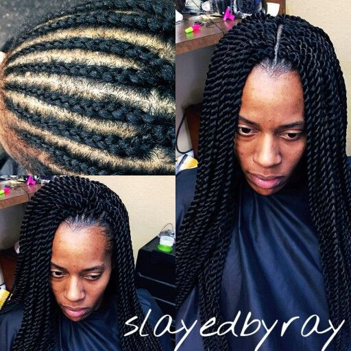 Crochet Senegalese installation $60..7 bags of Zury pretwisted hair ...