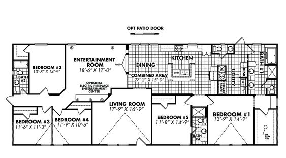 doublewide home floor plans 5 bedroom floor plans doublewide mobile homes from clh commercial