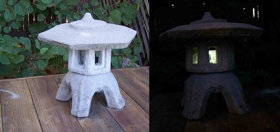 Add a little light by combining a solar powered  LED  to your traditional Japanese Toro Stone Lantern. I found this lantern while clearing some overgrown shrubs in my back yard. ...