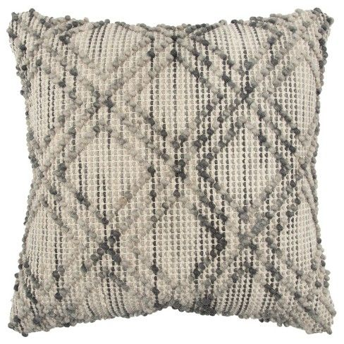 Rizzy Home Transitional Geometric Throw Pillow Target Geometric Throw Pillows Throw Pillows Grey Throw Pillows