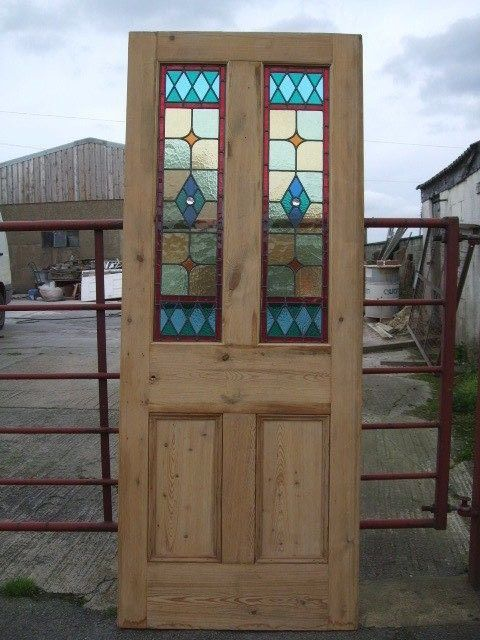 Mp776 31 034 1 2 X 79 034 3 4 Internal Stripped Pine Stained Glass Front House Door House Front Door House Front House Doors