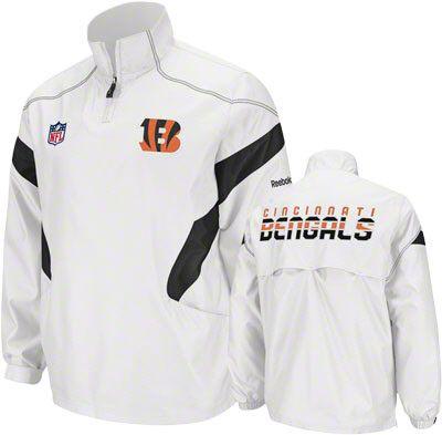 Cincinnati Bengals White 2011 Sideline Momentum Hot Jacket