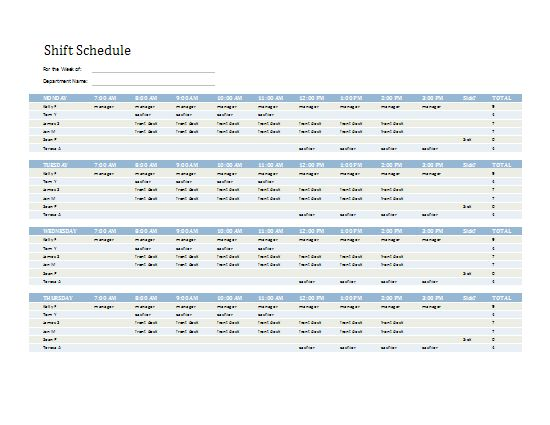 Employee Shift Schedule | Templates I Love | Pinterest | Microsoft