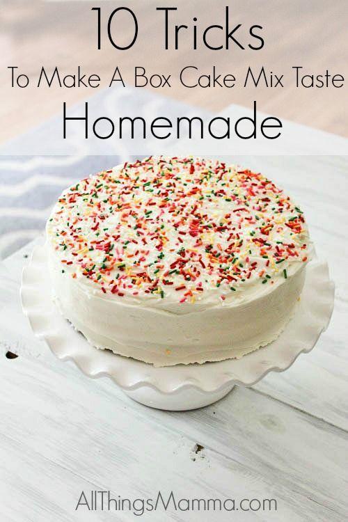 how to make a vanilla box cake mix really moist